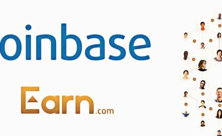 """Coinbase Earn,"""" an educational program for crypto users to"""